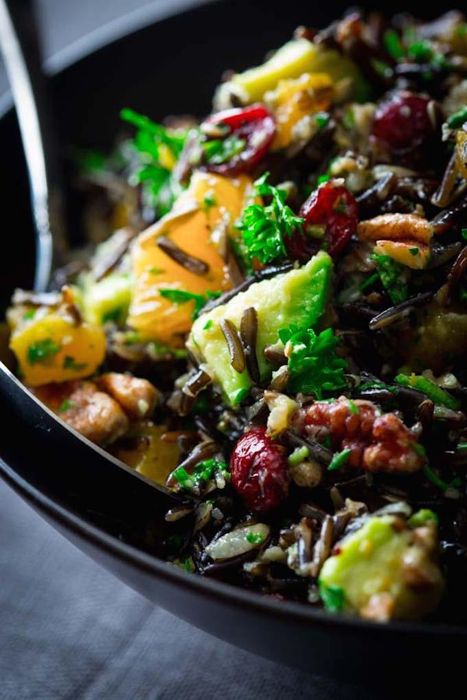 Wild Rice with Apricots and Avocado