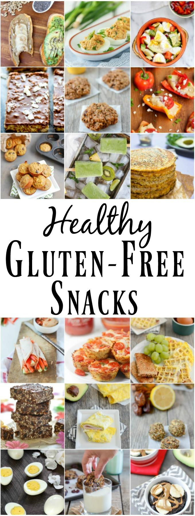 These Healthy Gluten-Free Snacks feature ingredients that are naturally gluten-free like sweet potatoes, eggs, nuts, seeds, fruits and vegetables. The recipes are packed with nutrients and great for adults and kids