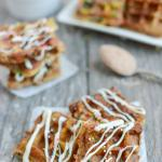 These Dessert French Toast Waffle Bites are a kid-friendly treat that make a fun, healthy dessert alternative to cookies or cake.