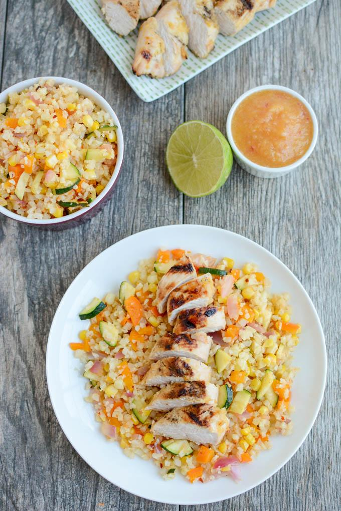 This Grilled Ginger Peach Turkey Tenderloin is perfect for a healthy lunch or dinner. The marinade is made with just five simple ingredients and cooks quickly on the grill!