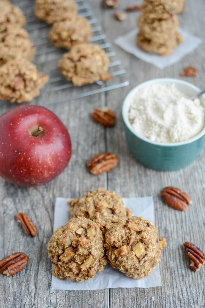 Apple Pecan Snack Cookie with coconut flour