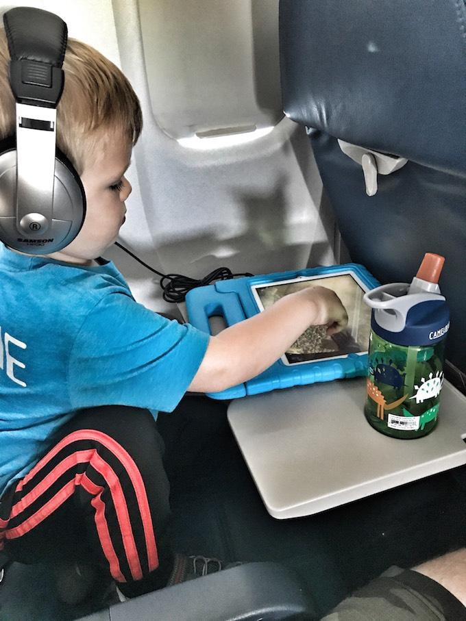Toddler on an airplane
