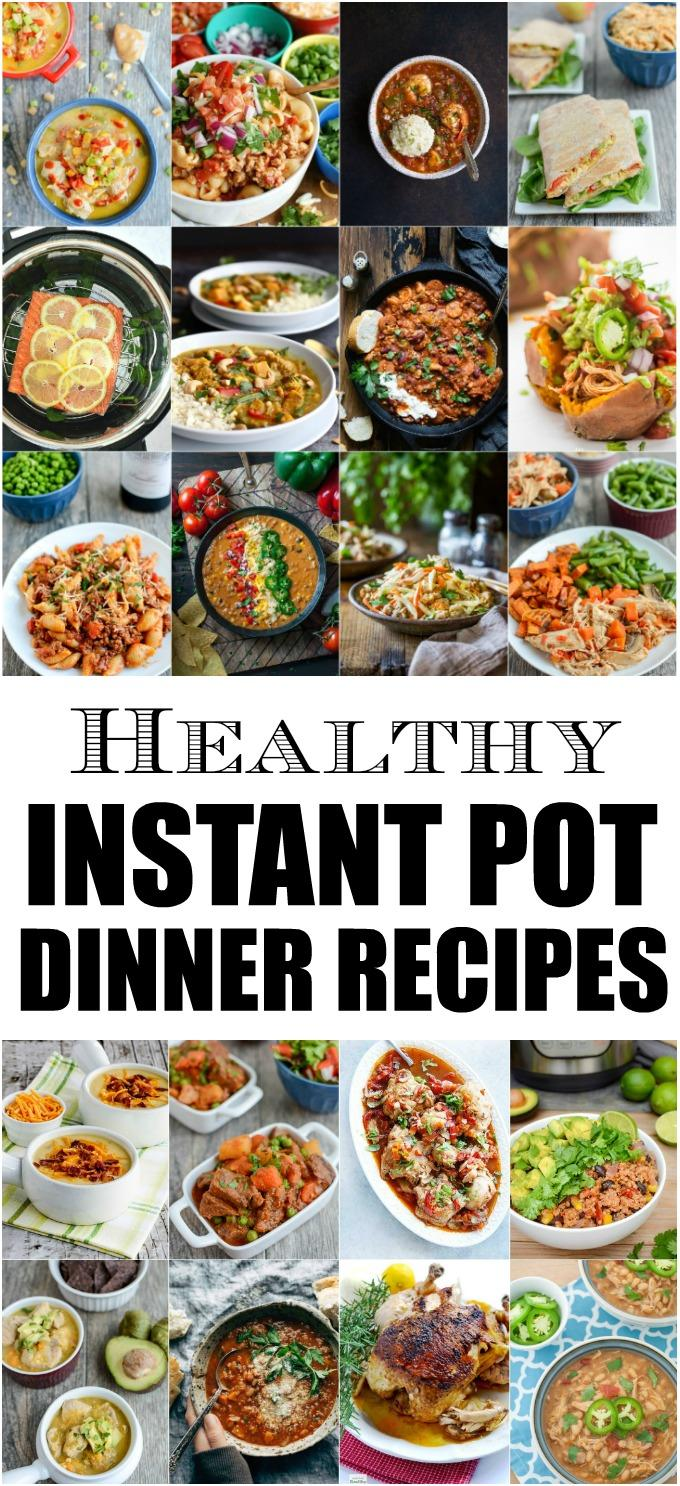 These Healthy Instant Pot Dinner Recipes are perfect for busy weeknights. With a mix of vegetarian and meat options, there's a pressure cooker recipe for everyone!