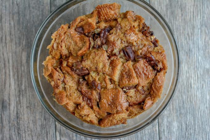 Instant Pot Gingerbread Bread Pudding in 1.5 quart bowl