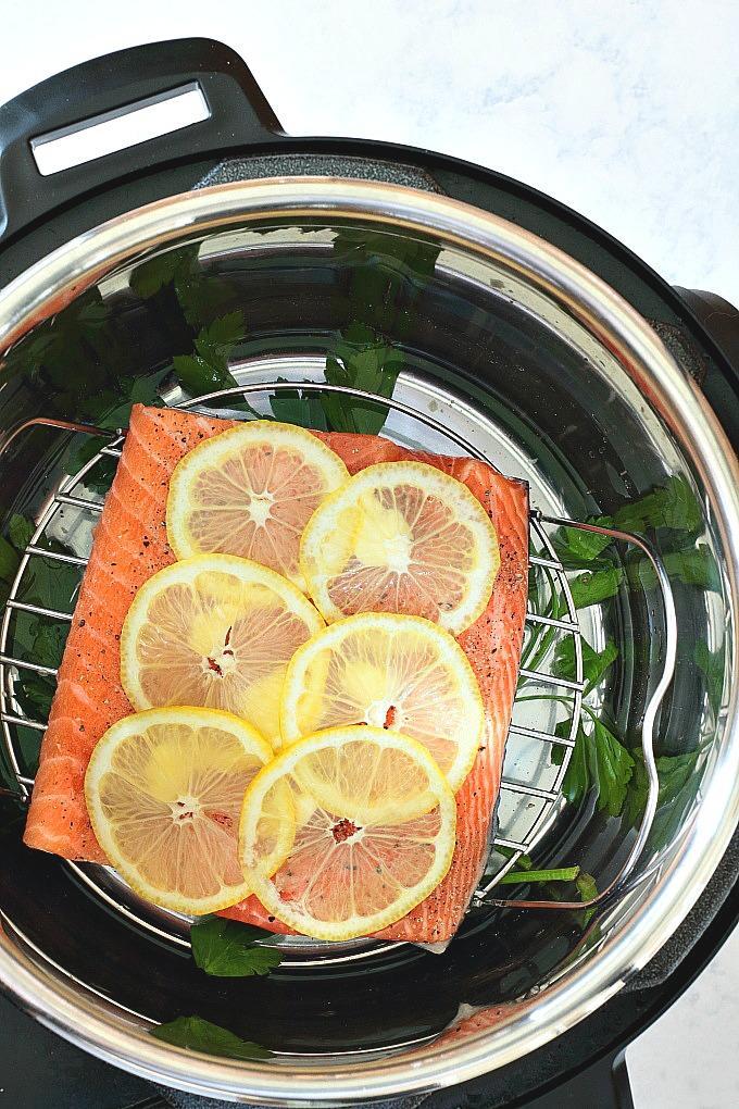 Instant Pot Lemon Pepper Salmon