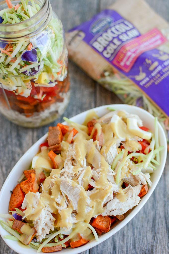 Broccoli Slaw Salad in a Jar