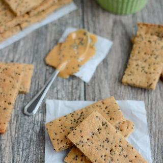 These Peanut Butter Chia Crackers are a healthy, kid-friendly snack recipe made with just a few simple ingredients. Make a batch for an after-school snack or pack some in your purse for a busy day!
