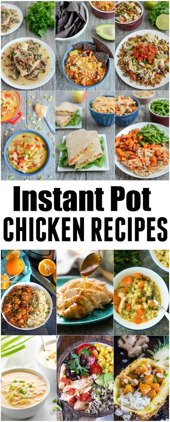 These Instant Pot Chicken Recipes are perfect for easy, healthy dinners. Plus you can pack the leftovers for lunch!