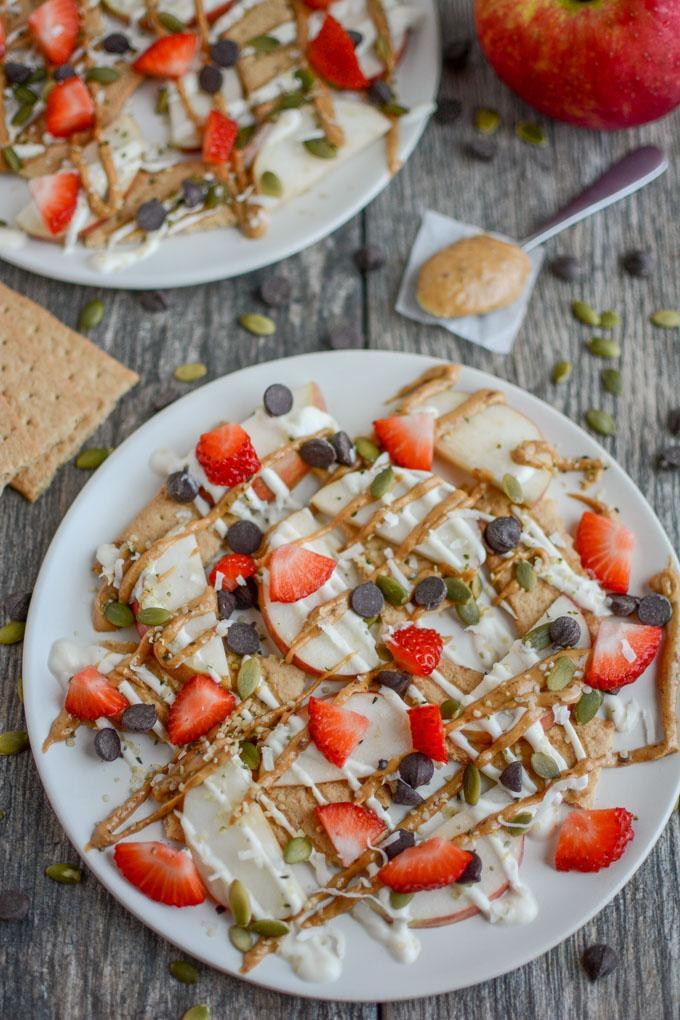 Apple Graham Snack Nachos