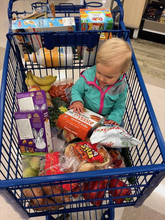 grocery shopping with list