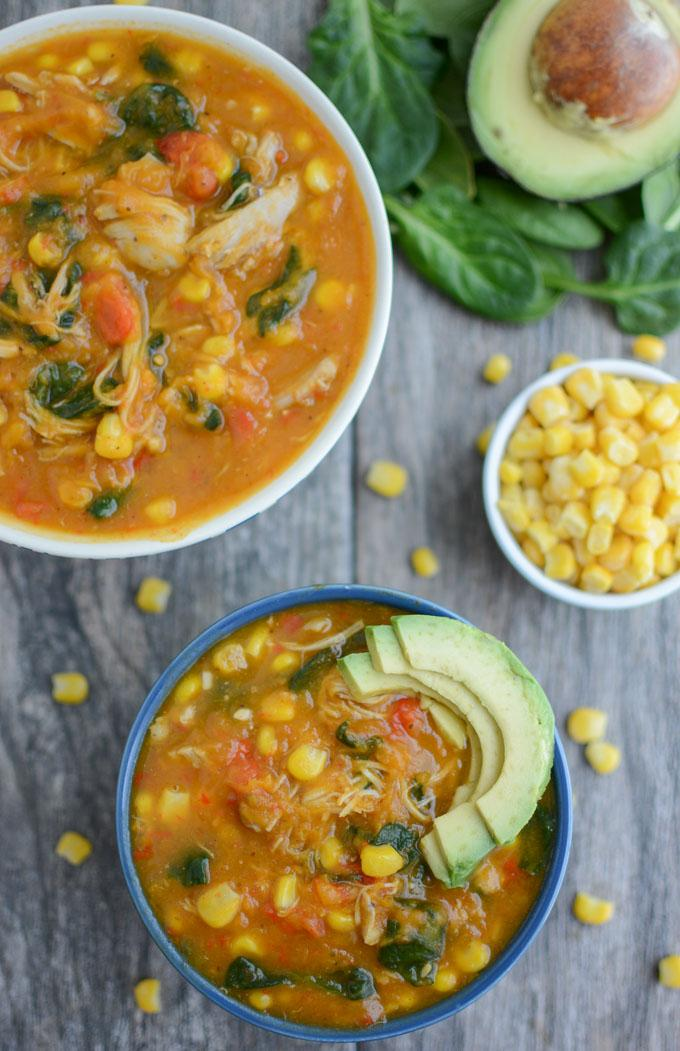 Instant Pot Chicken and Sweet Potato Soup