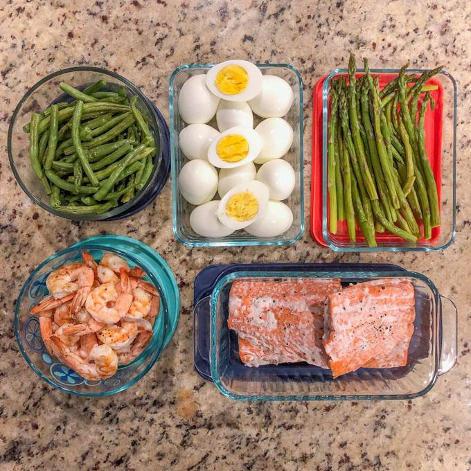 Easy egg and salmon recipe food prep