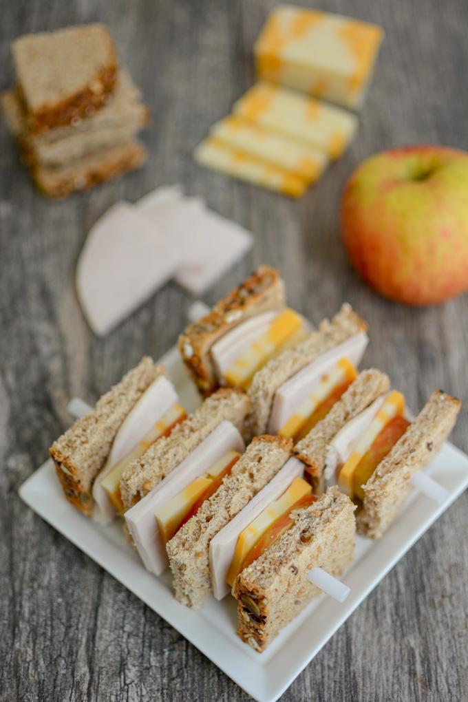 Turkey Sandwich Kabobs