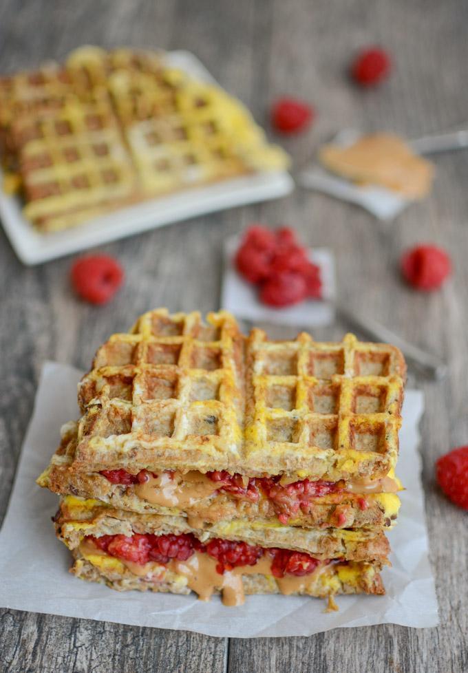 waffle french toast pb&j