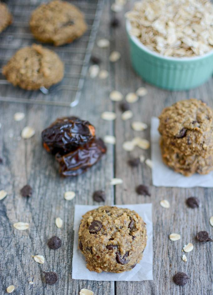 Date Sweetened Chocolate Chip Cookies