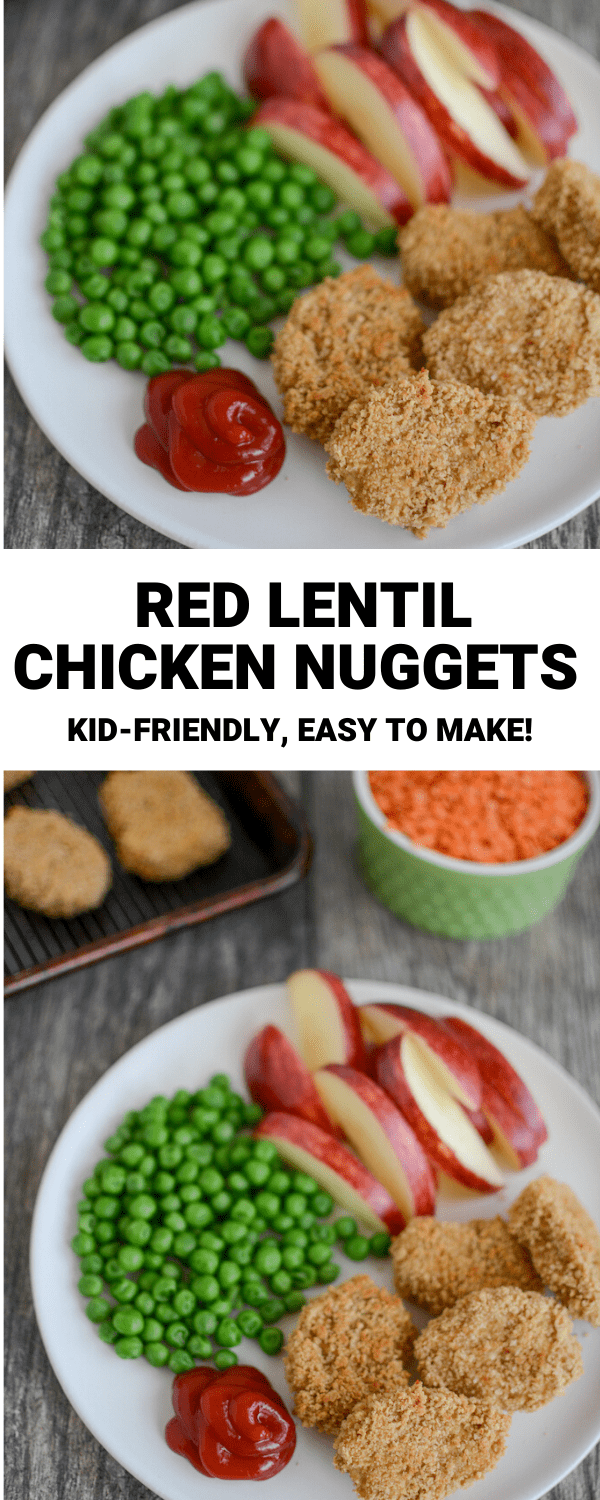 These Red Lentil Chicken Nuggets are made with a combination of red lentils and ground chicken. They're kid-friendly and easy to make for a weeknight dinner.