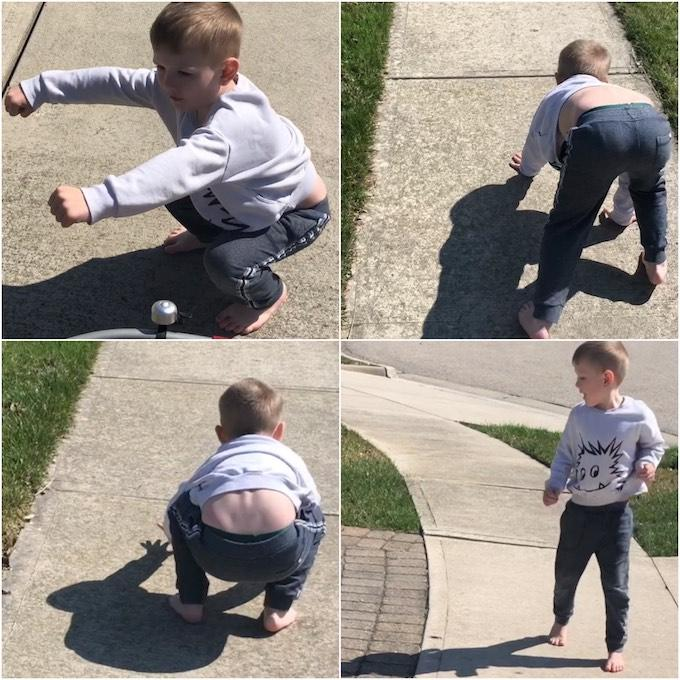 sidewalk workout idea for kids