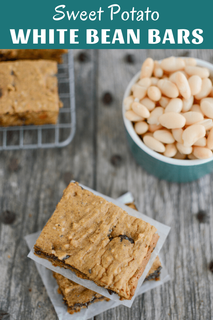These Sweet Potato White Bean Bars are perfect for breakfast or snack time.