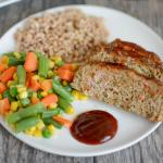 Easy Turkey Meatloaf with Vegetables