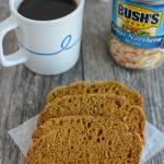 Pumpkin White Bean Bread with Can of White Beans and Coffee