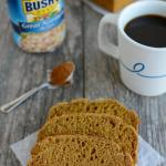 Gluten-free pumpkin white bean bread with coffee