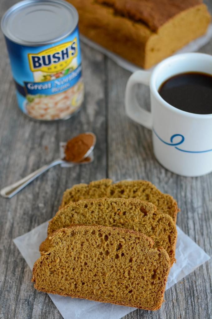 Gluten Free Pumpkin Coffee White Bean Bread