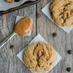 easy chewy gluten-free chocolate chip cookies with almond butter