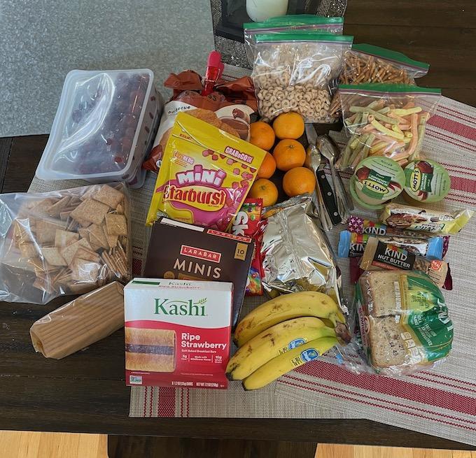 healthy road trip snacks non-perishable