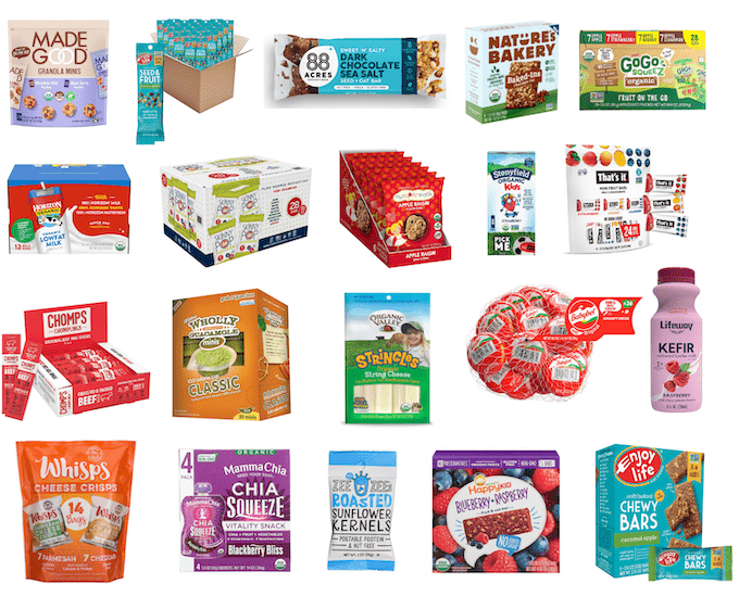 healthy individually packaged snacks for school