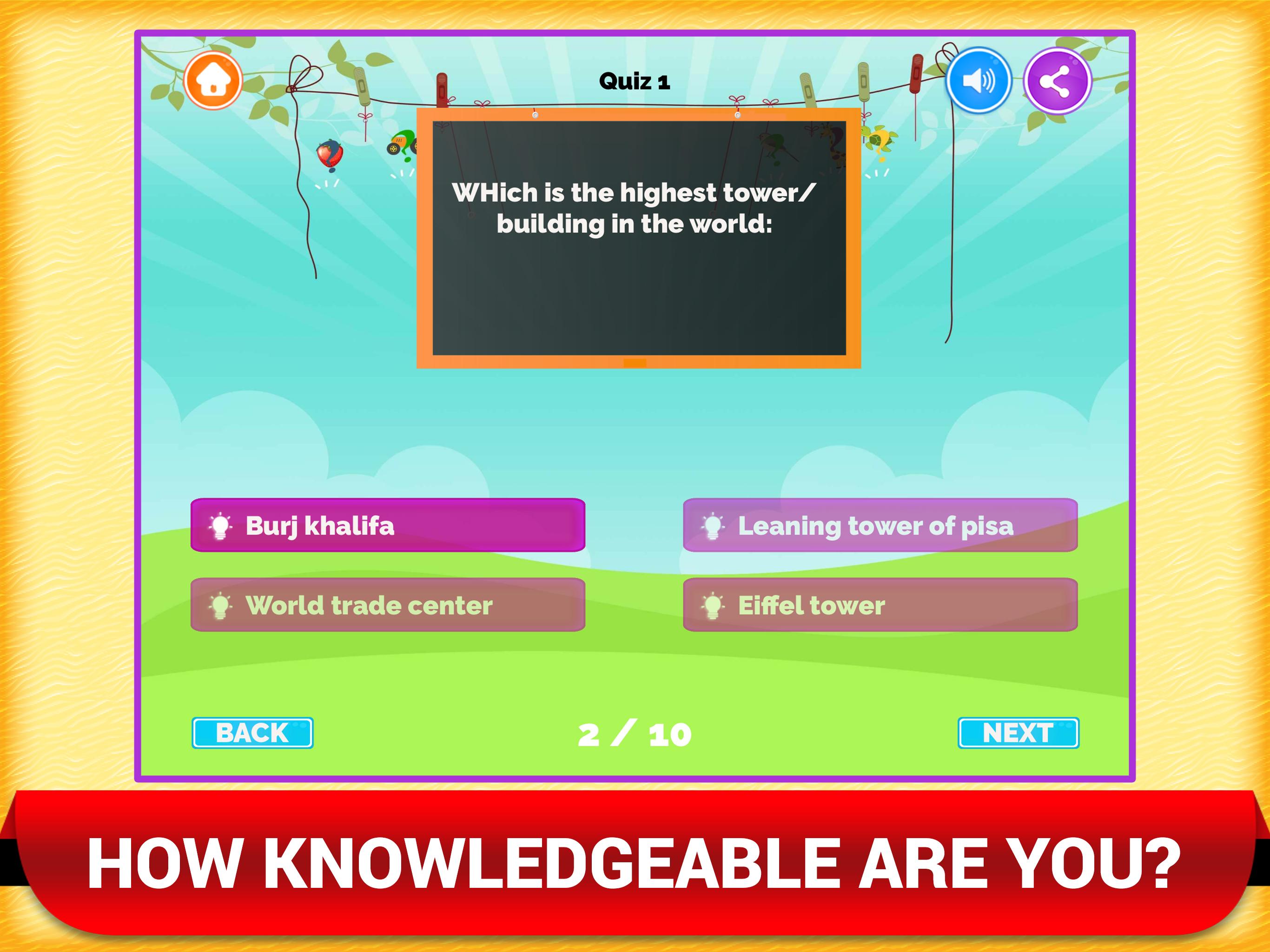 General Knowledge Kids Quiz Game