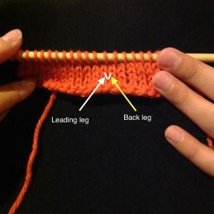 Anatomy of a knit stitch 3