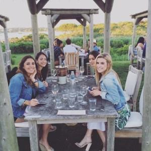 My beautiful friends and I... enjoying wine and NOT wearing turtlenecks