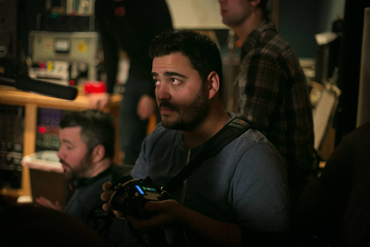 Always eager to work hands on with the crew Producer Rafael Francisco assists the camera department by pulling focus.