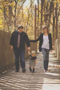 Fall Family Picture on Bridge