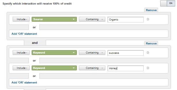custom attribution model rules for heavy organic traffic