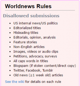 reddit rules for worldnews subreddit