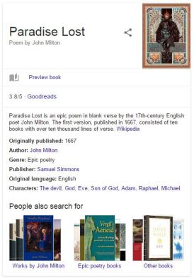 knowledge graph with paradise lost information from multiple sources