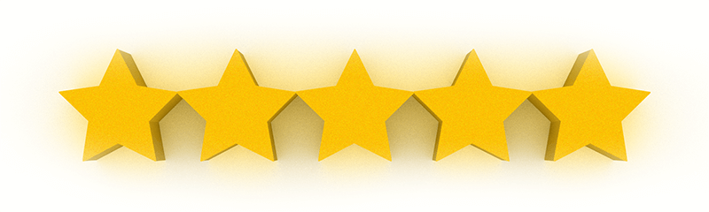 google five star rating stars in 3d