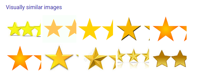 google image search result for visually similar gold stars