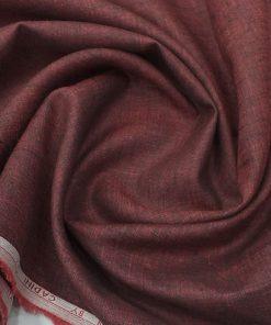 Cadini by Siyaram's Dark Maroon 60 LEA 100% Pure Linen Kurta Fabric