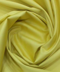 Nemesis Men's Blonde Yellow 100% Egyptian Giza Cotton Satin Weave Shirt Fabric (1.60 M)