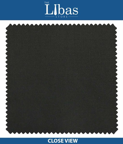 Raymond Black Twill Solid Poly Viscose Trouser or 3 Piece Suit Fabric (Unstitched - 1.25 Mtr)