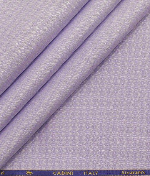 Cadini Italy Periwinkle Purple 100% Giza Cotton Jacquard Shirt Fabric (1.60 M)