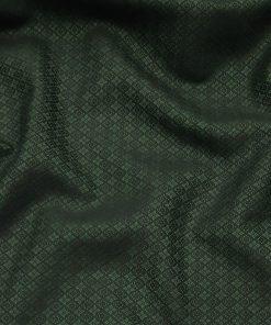 Absoluto Dark Green Jacquard Unstitched Terry Rayon Bandhgala or Blazer Fabric