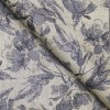 Nemesis Beige & Grey Floral Jacquard Unstitched Terry Rayon Blazer or Bandhgala Fabric
