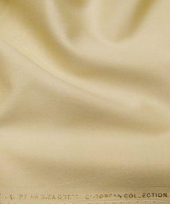 Nemesis Buttermilk Beige 100% Giza Cotton Solid Satin Shirt Fabric (1.60 M)