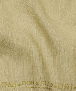 Don & Julio Men's Beige Terry Rayon Self Design Shiny Unstitched Suiting Fabric - 2 Meter