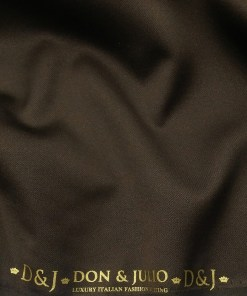Don & Julio Men's Carob Brown Terry Rayon Shiny Structured Unstitched Suiting Fabric - 3.75 Meter