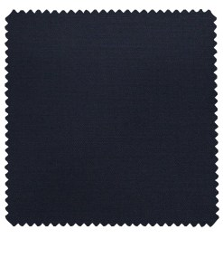 Don & Julio Men's Dark Royal Blue Terry Rayon Solid Satin Weave Unstitched Suiting Fabric - 3.75 Meter