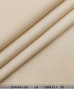 Raymond Men's 100% Premium Cotton Fil-a-Fil Unstitched Shirt Fabric (ButterMilk Beige